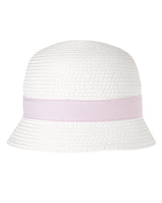 Pure White Bow Straw Hat at JanieandJack