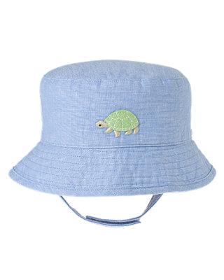 Turtle Blue Turtle Bucket Hat at JanieandJack