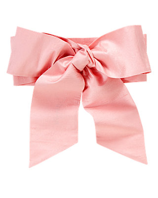 Rosebud Pink Silk Duppioni Sash at JanieandJack