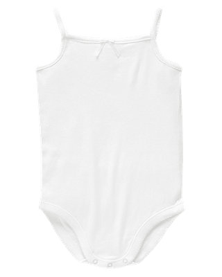 Pure White Tank Bodysuit at JanieandJack