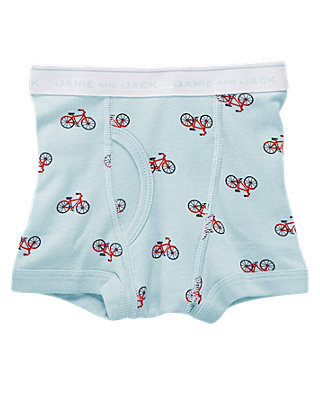 Light Blue Bicycle Boxer Brief at JanieandJack