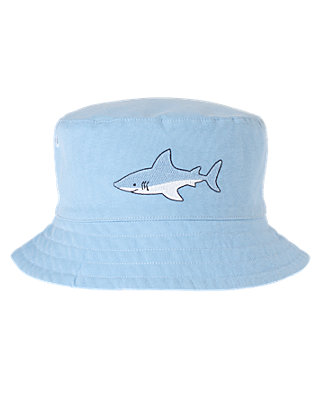 Boys Shark Blue Shark Bucket Hat at JanieandJack