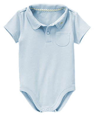 Turtle Blue Turtle Polo Bodysuit at JanieandJack