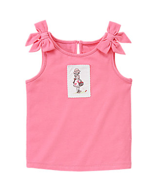 Berry Pink Strawberry Girl Tank Top at JanieandJack