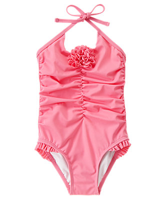 Berry Pink Rosette Swimsuit at JanieandJack