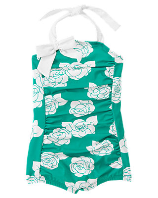 Island Rose Rose Floral Swimsuit at JanieandJack