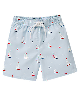 Sailboat Sailboat Swim Trunk at JanieandJack