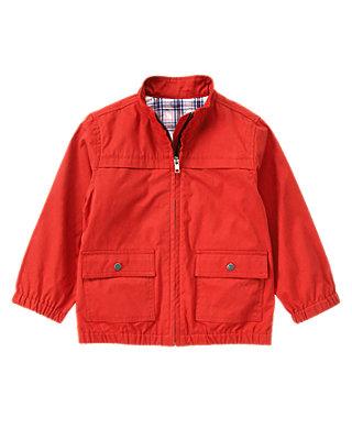 Summer Red Canvas Jacket at JanieandJack