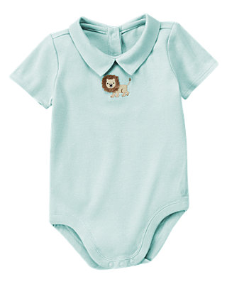 Safari Blue Lion Collar Bodysuit at JanieandJack