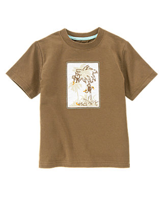 Boys Monkey Brown Palm Monkeys Tee at JanieandJack