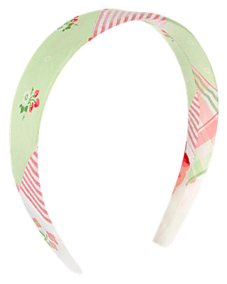 Strawberry Patchwork Floral Patchwork Headband at JanieandJack