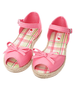 Berry Pink Bow Espadrille at JanieandJack