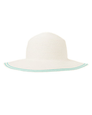 Pure White Tipped Straw Sunhat at JanieandJack