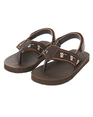 Brown Palm Flip Flop at JanieandJack
