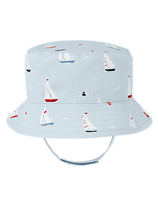 Sailboat Sailboat Reversible Bucket Hat at JanieandJack