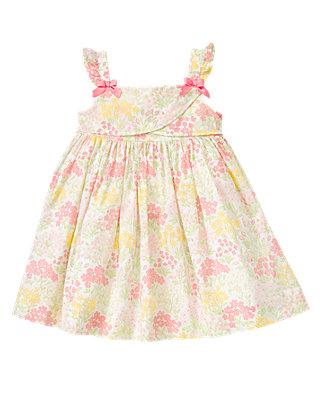 Rosy Pink Floral Bow Floral Voile Dress at JanieandJack