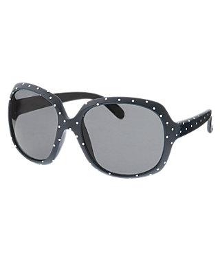 Classic Navy Dot Pindot Sunglasses at JanieandJack
