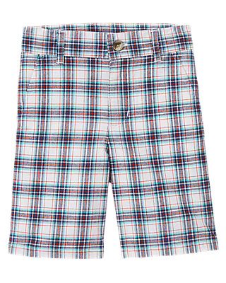 Twilight Blue Plaid Plaid Short at JanieandJack