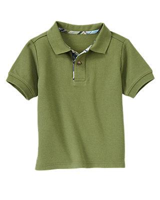 Grasshopper Green Pique Polo Shirt at JanieandJack