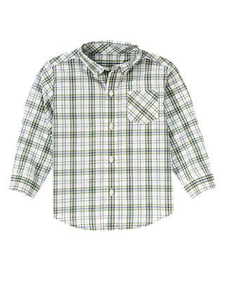 Grasshopper Green Plaid Plaid Shirt at JanieandJack