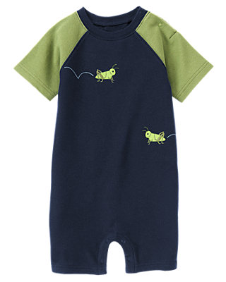 Boys Daytime Navy Grasshopper Pique One-Piece at JanieandJack