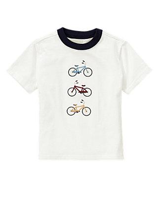 Jet Ivory Bicycles Ringer Tee at JanieandJack