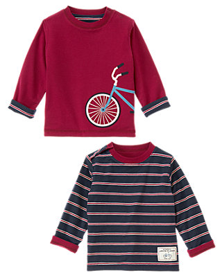 Bicycle Red Bicycle Reversible Tee at JanieandJack