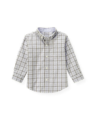 Dark Purple Check Tattersall Shirt at JanieandJack