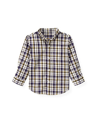 Dark Purple Plaid Plaid Shirt at JanieandJack