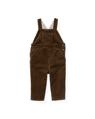 Boys Coffee Corduroy Overall at JanieandJack