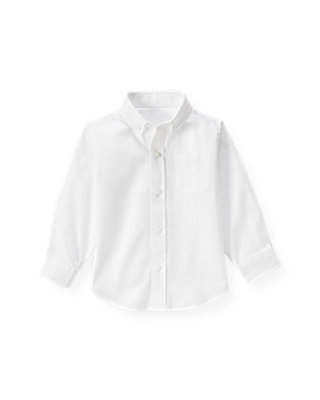 Pure White Dobby Dress Shirt at JanieandJack
