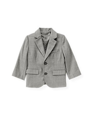 Classic Grey Herringbone Suit Blazer at JanieandJack