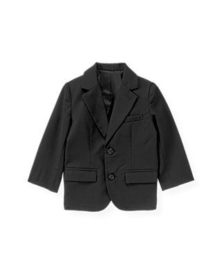 Dark Navy Wool Suit Blazer at JanieandJack