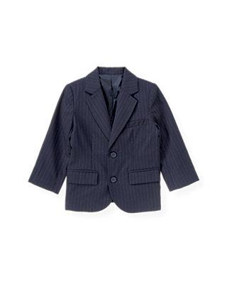 Classic Navy Pinstripe Pinstripe Suit Blazer at JanieandJack