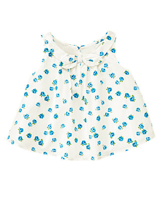 Rose Blossom Bow Rose Floral Top at JanieandJack