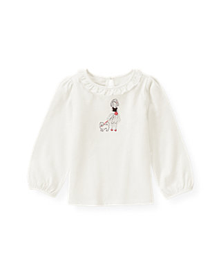 Jet Ivory Girl & Puppy Top at JanieandJack