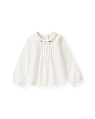 Jet Ivory Rose Collar Top at JanieandJack
