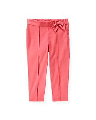 Rose Pink Bow Sateen Pant at JanieandJack