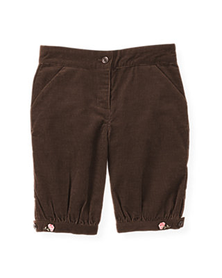 Dark Brown Rose Corduroy Knicker at JanieandJack