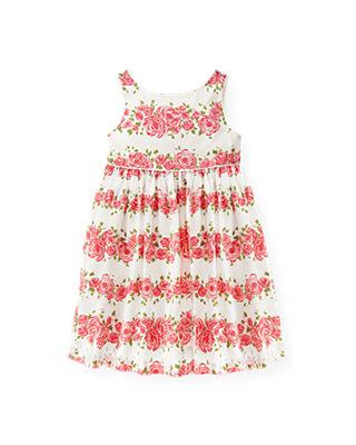 Rose Garland Rose Blossom Sateen Dress at JanieandJack