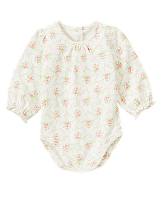 Baby Girl Rose Floral Rose Blossom Bodysuit at JanieandJack