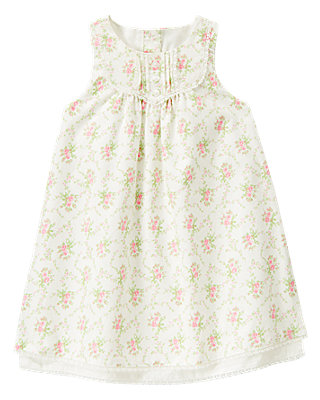 Baby Girl Rose Floral Rose Blossom Corduroy Jumper at JanieandJack