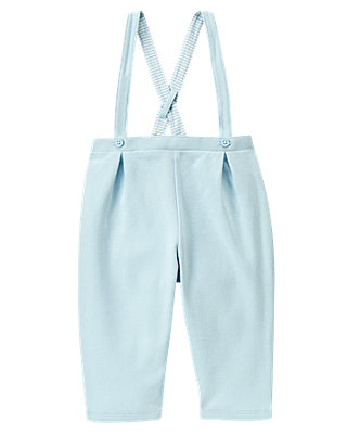 Baby Boy Hippo Blue Suspender Pant at JanieandJack