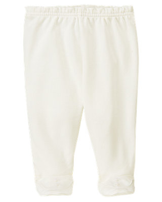 Jet Ivory Footed Pant at JanieandJack