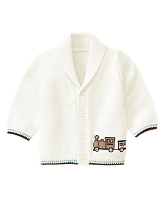 Jet Ivory Train Shawl Cardigan at JanieandJack