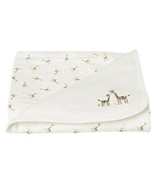 Jet Ivory Giraffe Blanket at JanieandJack