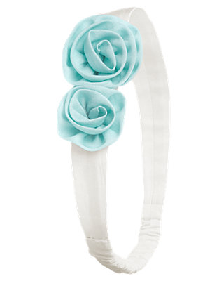 Antique Blue Rosette Headband at JanieandJack
