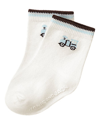 Jet Ivory Train Sock at JanieandJack