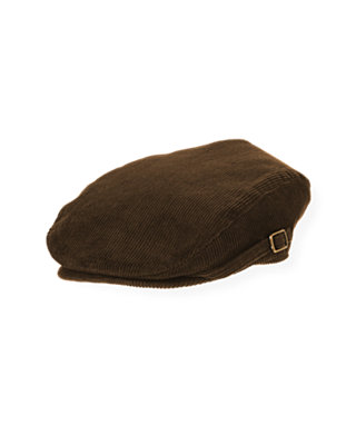 Boys Dark Brown Corduroy Cap at JanieandJack