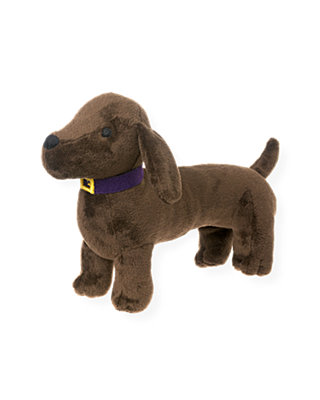 Dark Brown Dog Plush Toy at JanieandJack